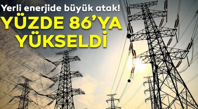 Elektrik üretiminde yerli kaynakların payı yüzde 86'yı buldu!